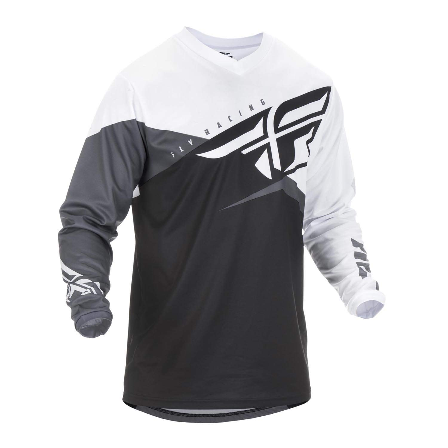 Fly Racing 2019 F-16 Jersey (Medium) (Black/White/Grey) by Fly Racing