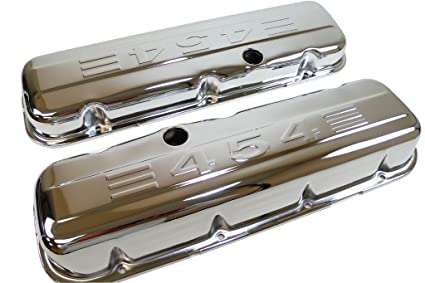 CFR Performance 1965-95 Compatible/Replacement for Chevy Big Block  396-427-454-502 Tall Steel Valve Covers w/ 454 Logo - Chrome