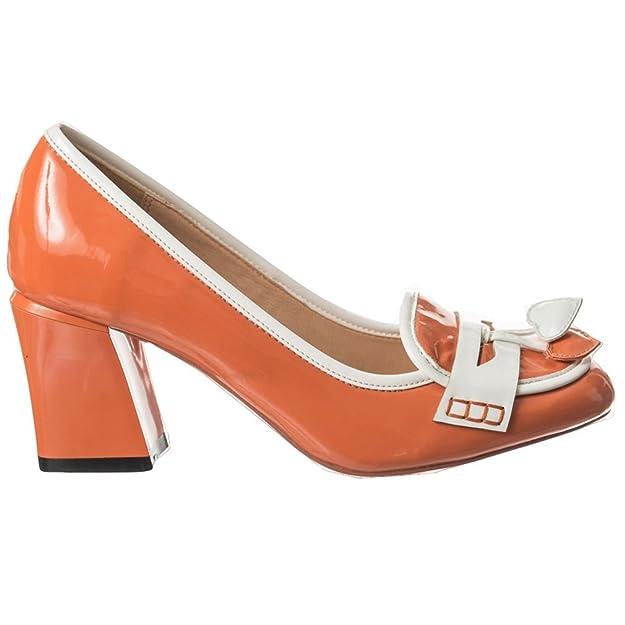 Banned - Zapatos de vestir de Material Sintético para mujer naranja naranja  One Size 0dc2846ab7c1