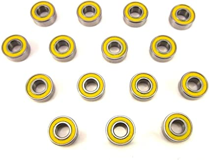 10pcs 5116 5x11x4mm Replacement Precision Ball Bearings MR115-2RS WD
