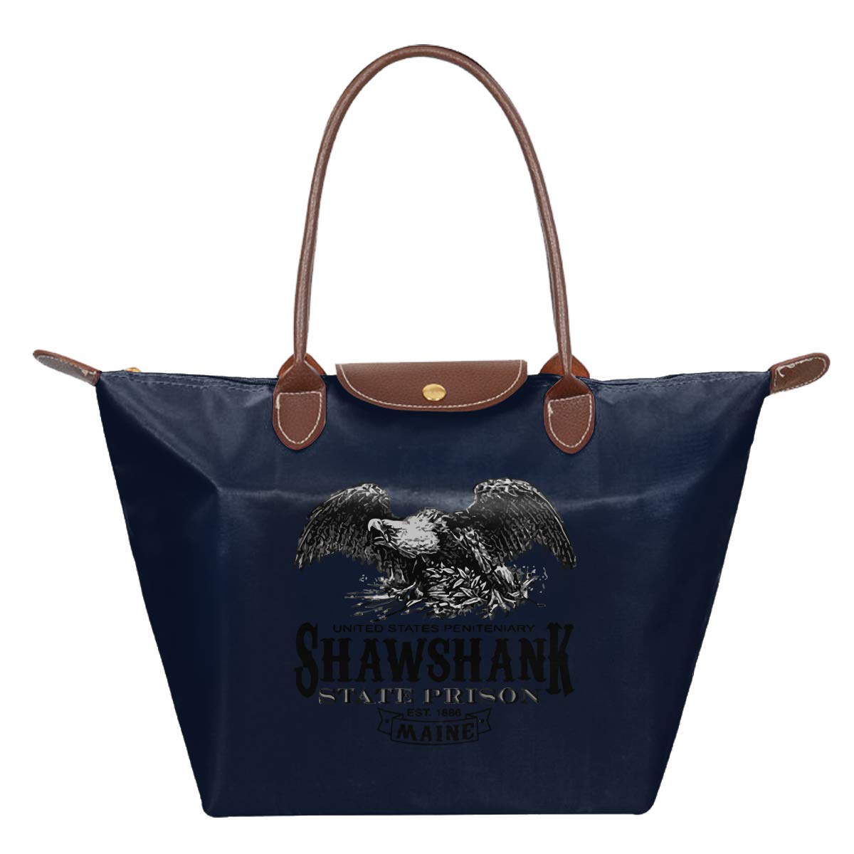 Shawshank Prison Novelty Jail Movie Waterproof Leather Folded Messenger Nylon Bag Travel Tote Hopping Folding School Handbags