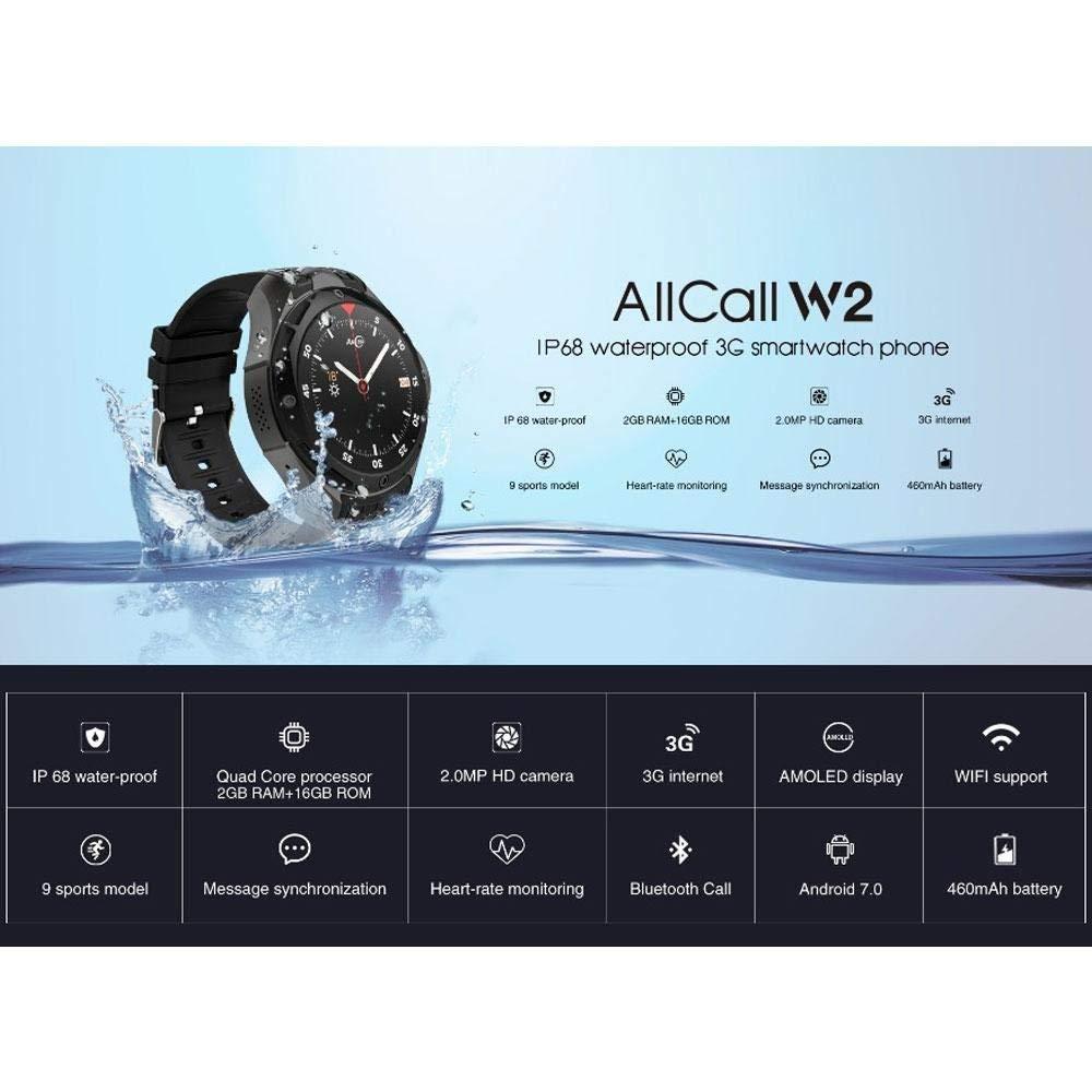 CWeep AllCall W2 Smartwatch,3G Smartwatch Phone Waterproof ...