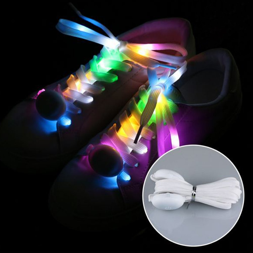 Led clignotant Shoestrings, Multicolor Mode Lacets LED à piles clignotant coloré Shoestrings free size Red Behavetw