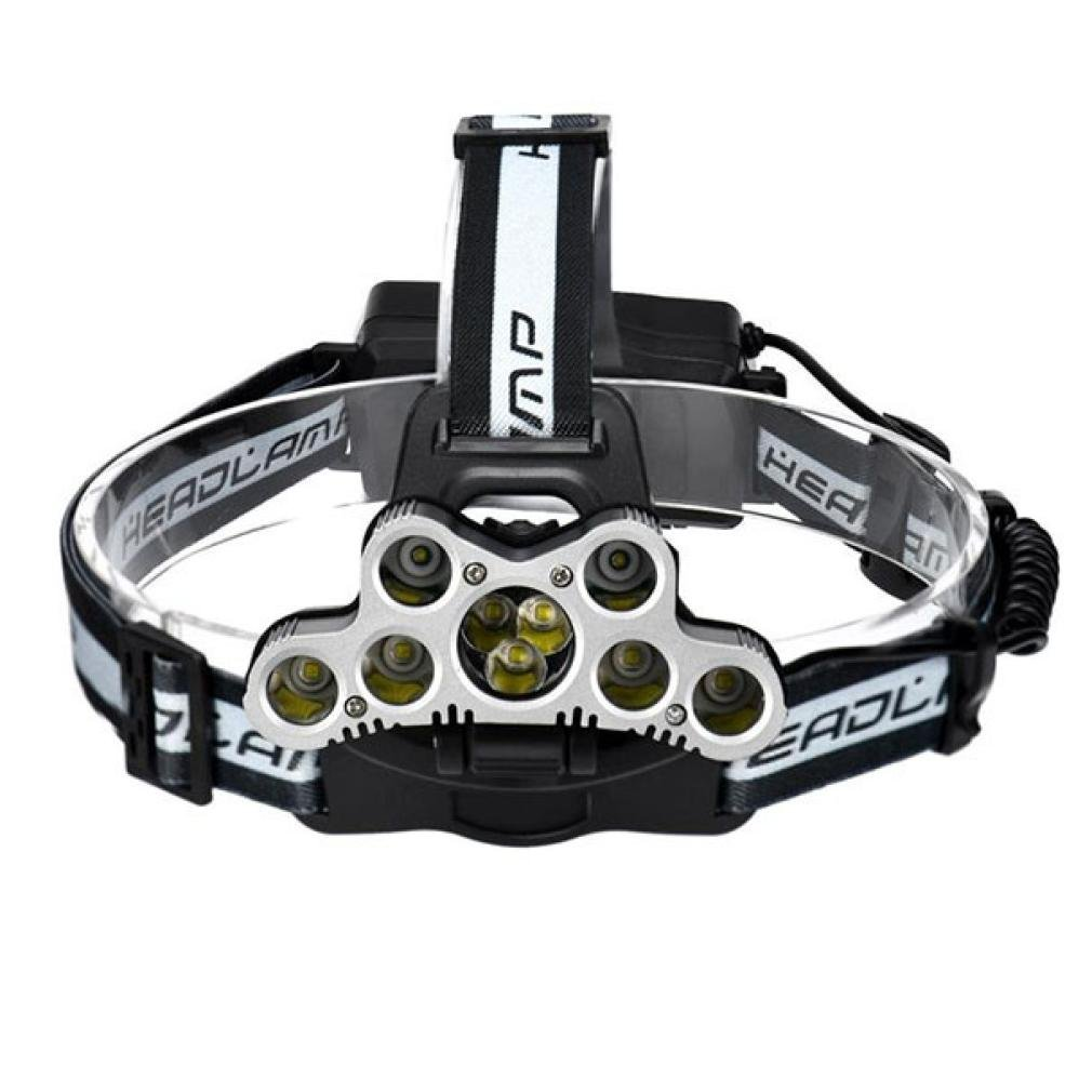 Quaanti Headlamp Headlight Travel Head Torch 45000 LM 9X XM-L T6 LED Rechargeable Bright Illumination Hot Sell (Black)
