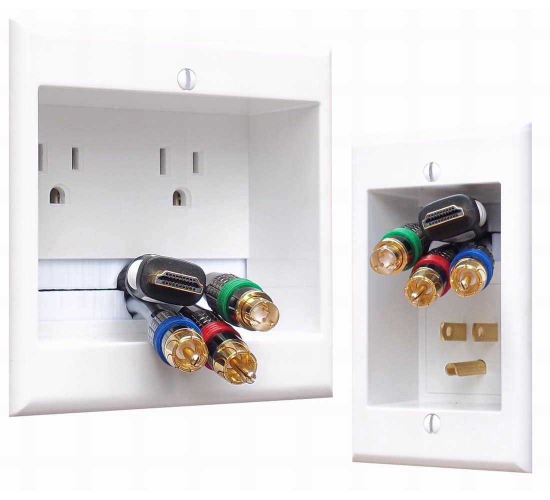 PowerBridge TWO-PRO-6 Dual Power Outlet Professional Grade Recessed In-Wall Cable Management System for Wall-Mounted Flat Screen LED, LCD, and Plasma TV's by PowerBridge Solutions (Image #10)