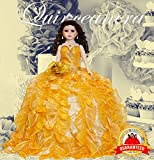 "24"" Porcelain Quinceanera Umbrella Doll (Table Centerpiece)~Gold~KB24727-6"