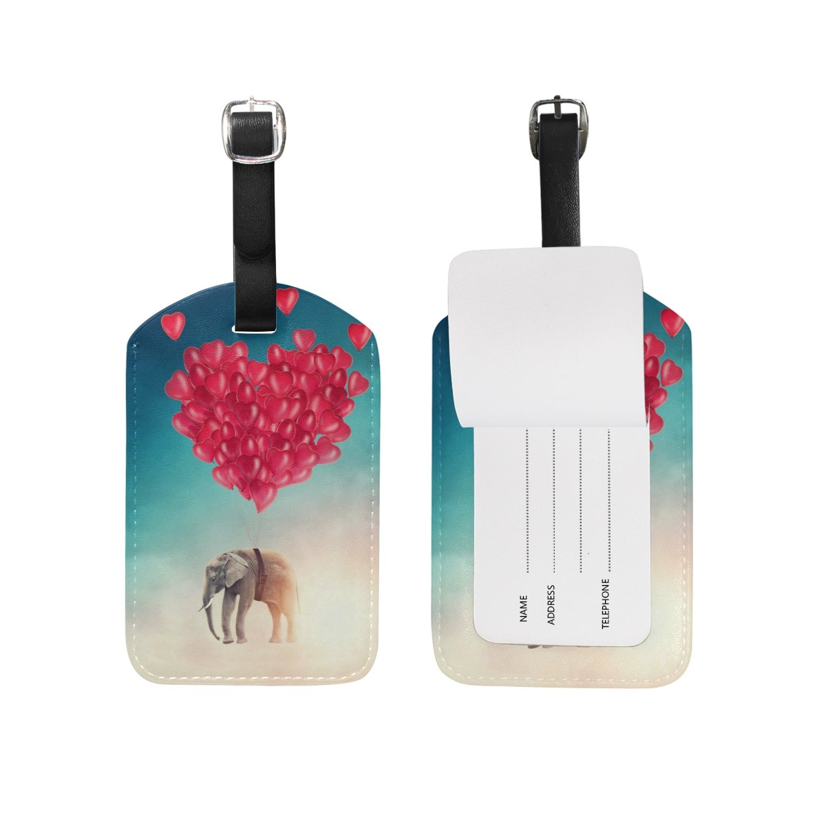 Use4 Pink Unicorn Cat Rainbow Luggage Tags Travel ID Bag Tag for Suitcase 1 Piece g1066227p151c166s254