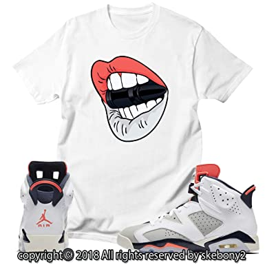 a24c9abd1618 Custom T Shirt Matching Style of AIR Jordan 6 Infrared Tinker JD 6-10-15 at  Amazon Men s Clothing store