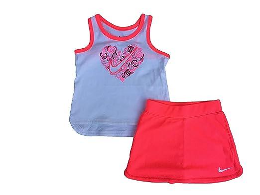 NIKE Infant Girls Swoosh Tank Top and Skort Set Racer Pink Size 12 Months db6ec0bc0