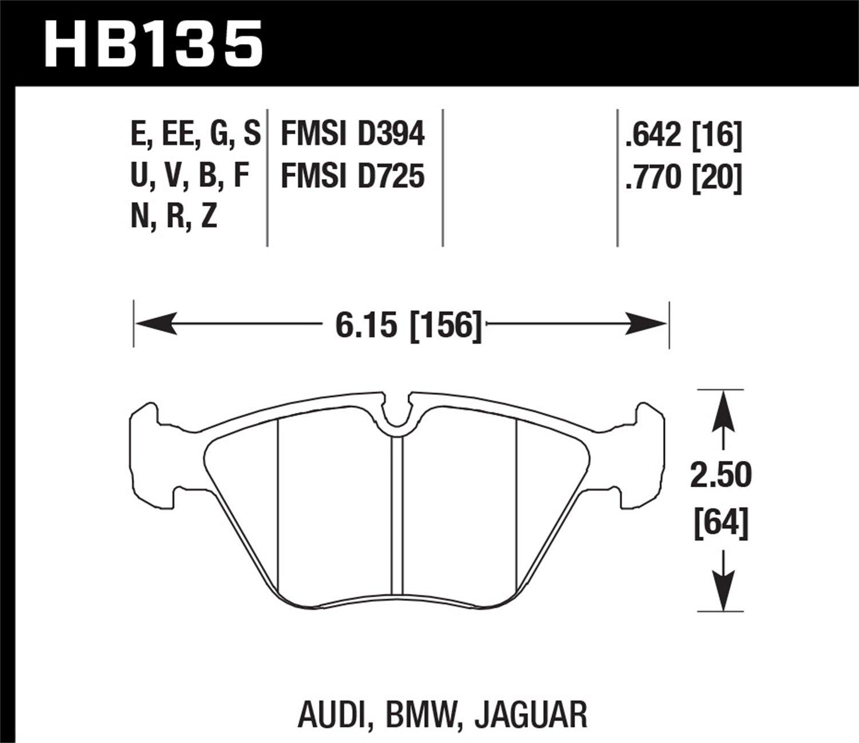 Hawk Performance HB135N.770 HP Plus Brake Pad