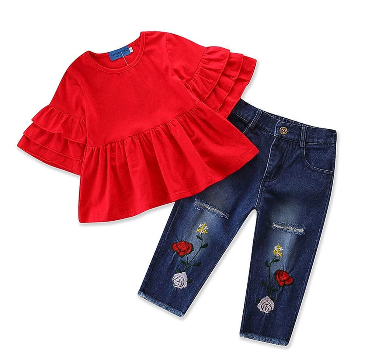 Amazon.com: Conjunto de 2 piezas de pantalones vaqueros para ...