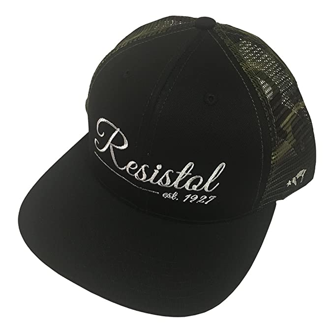 b55dd680d25bf Resistol Hooey Brand Six Panel Black with Camo Mesh Snapback Hat -  9502T-BKCA  Amazon.ca  Clothing   Accessories
