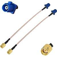 YILIANDUO Dab + Cable de Antena de Antena GPS para automóvil Fakra C Macho a SMA Cable de Cable Flexible RG316 15CM para…