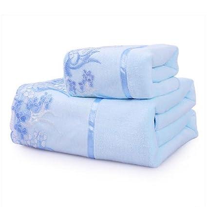 Wddwarmhome Toalla De Baño Azul Encaje Encaje Toalla De Baño Hotel Hombres Y Toalla De Baño
