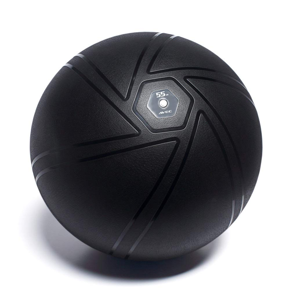 TMY Yoga Ball Explosion-Proof Boys and Girls Fitness Ball Pregnant Women Special Midwifery Delivery Balance Ball (Color : Black, Size : 55cm)