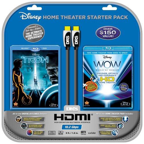 Disney WOW: World of Wonder (Single-Disc Blu-ray)w/HDMI Cable + Tron: Legacy (2-Disc BD Combo)