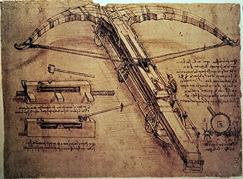 "Da Vinci ""Design for a Giant Crossbow"" (1485) Wall Decal 44""x60"""