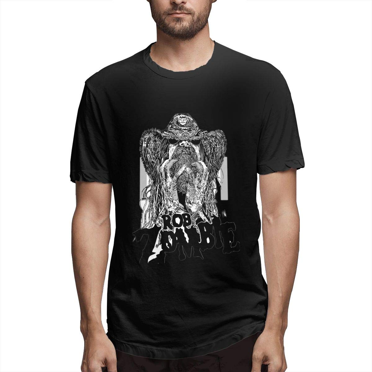 Lihehen Man Rob Zombie Simple Casual Round Neck T Shirts