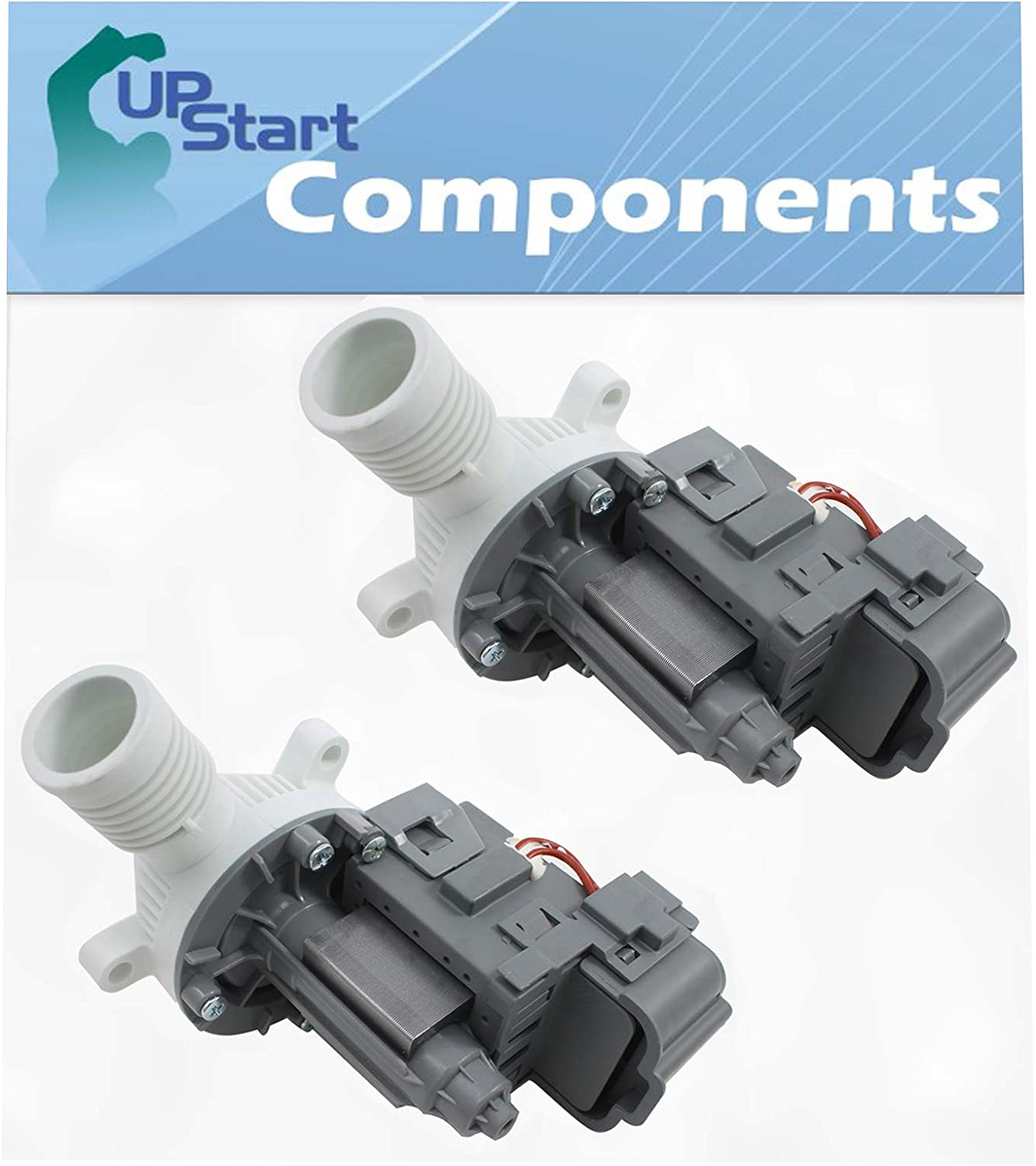 2-Pack W10276397 Washer Drain Pump Replacement for Maytag MAT20PRAWW0 - Compatible with WPW10276397 Washing Machine Water Pump