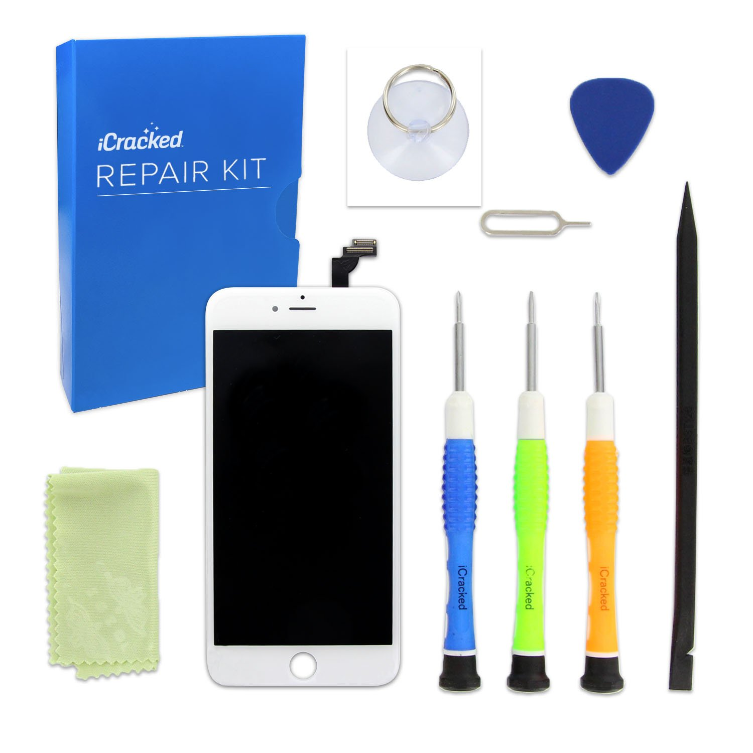 Amazon.com: iCracked iPhone 6 Screen Replacement Kit (White): Cell Phones &  Accessories
