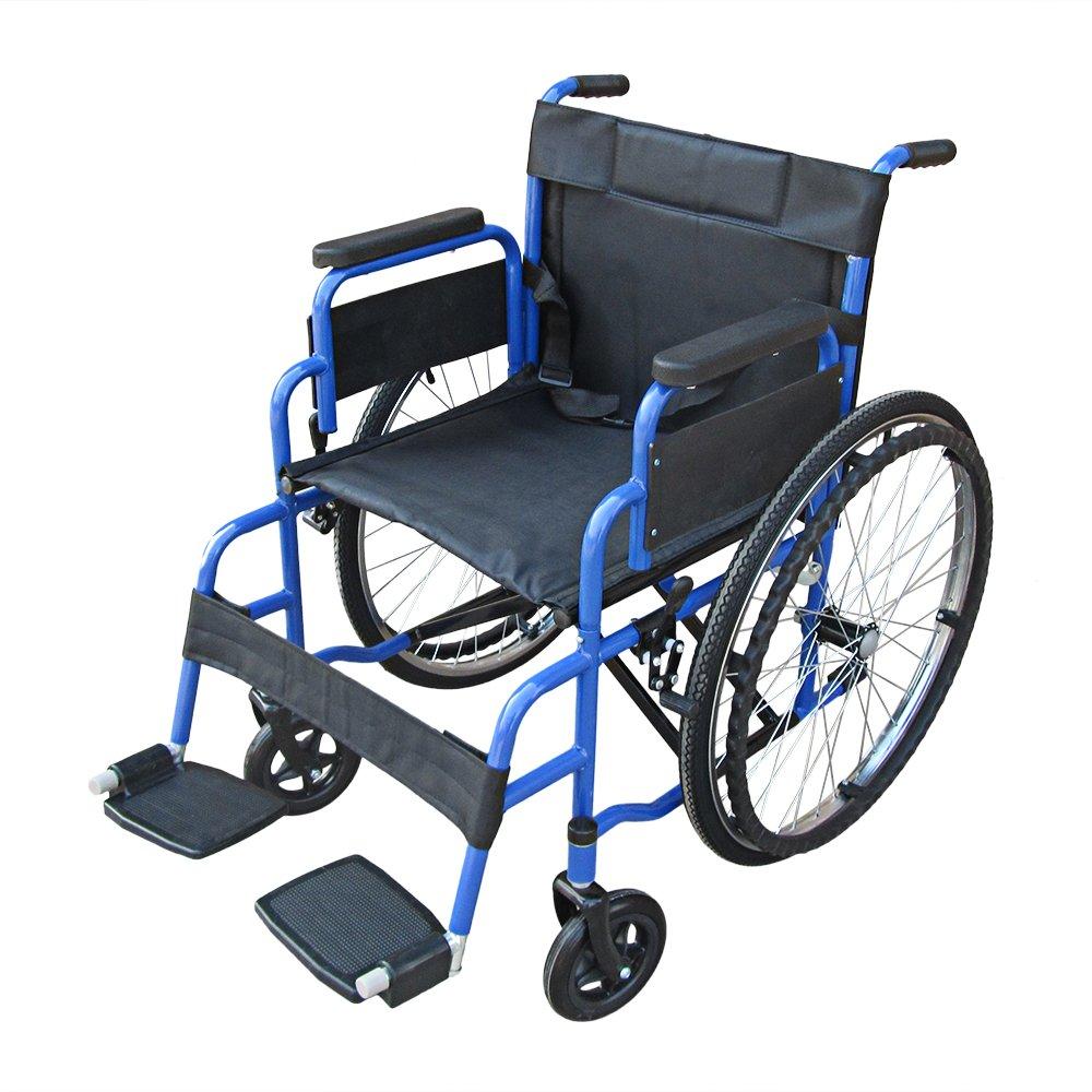 Pandamoto Wheelchair Puncture Resistant Self Propel Folding Portable ...