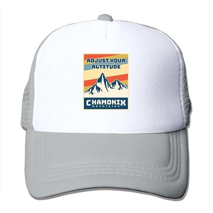 Mens Womens Chamonix Mountains Funny Mesh Cap Trucker Cap Ash at ... adcfd9ddc815
