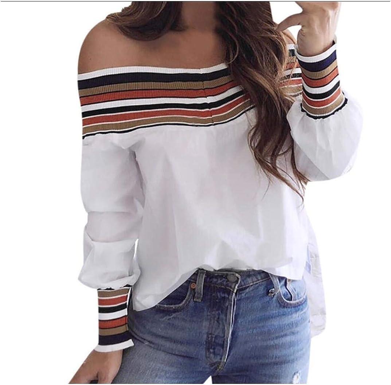 Mfasica Womens Off Shoulder T-Shirt Long Sleeve T-Shirt Tops