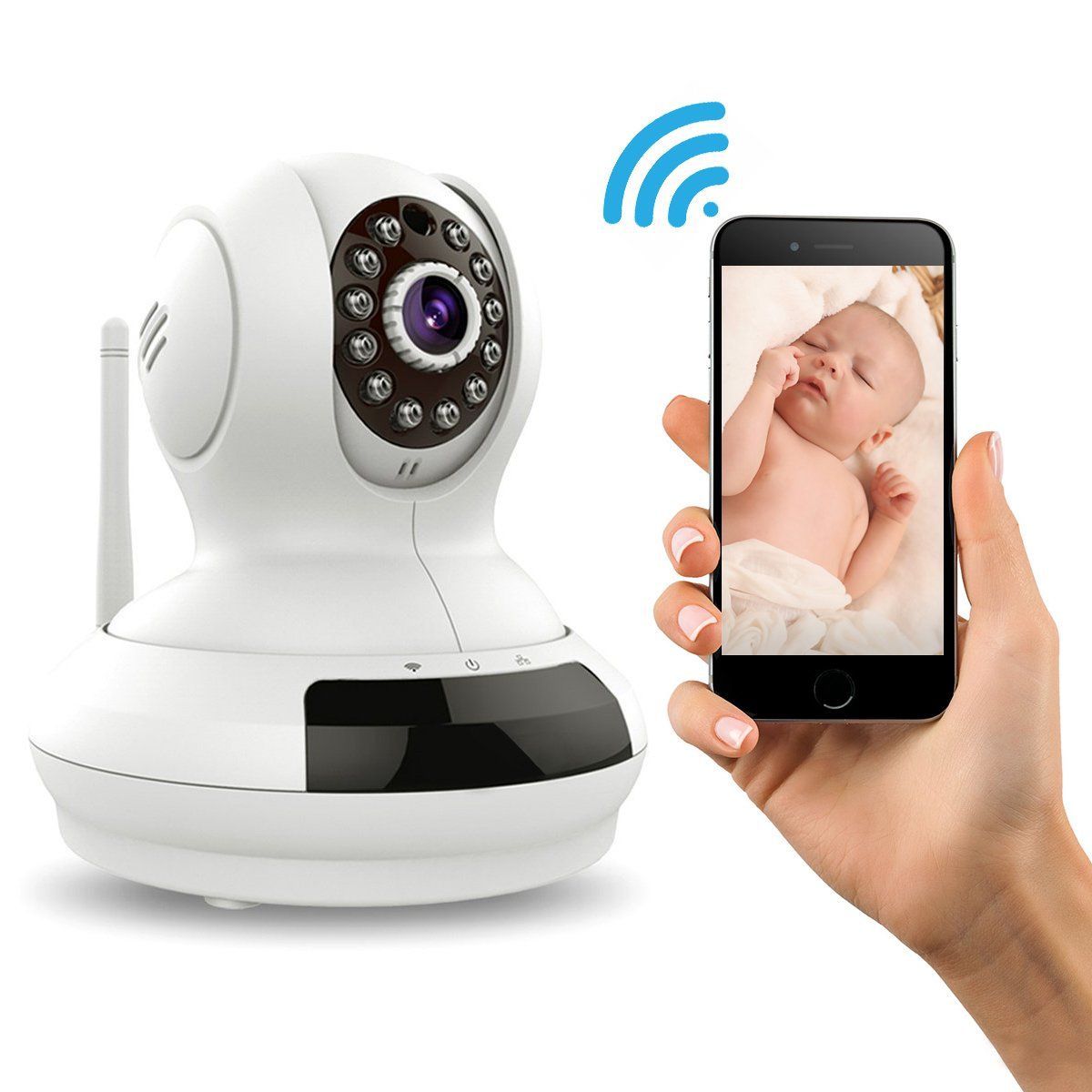 Spy Tec WiFi Wireless Surveillance Camera IP Camera Nanny Cam with Pan Tilt Zoom Motion Detect Two Way Audio Night Vision Remote Control 2.4G WiFi for Baby Monitor and Wireless Security Camera