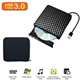 Tecnugiz External DVD Drive USB 3.0, CD DVD Burner