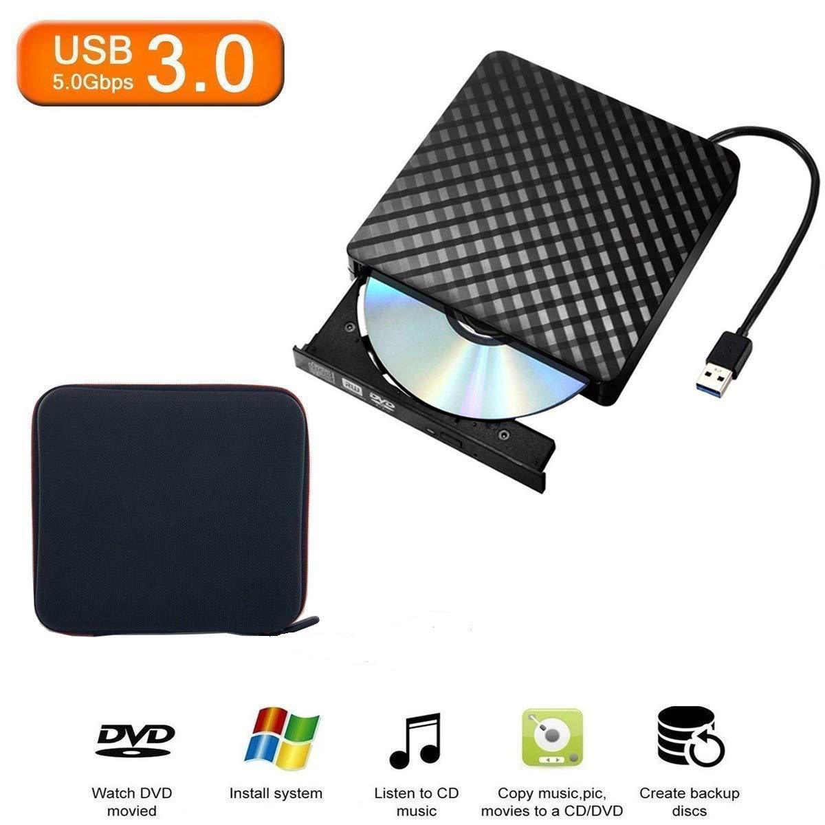 Tecnugiz External DVD Drive USB 3.0, CD DVD Burner