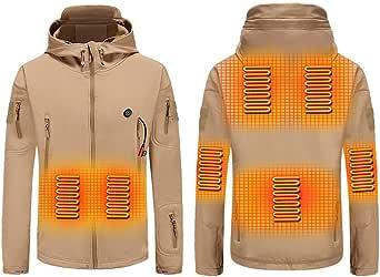 BININBOX Chaqueta hombre de esquí de terciopelo grueso con chaqueta calefactable