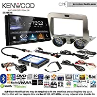 Volunteer Audio Kenwood DDX9904S Double Din Radio Install Kit with Apple CarPlay Android Auto Bluetooth Fits 2010-2015 Chevrolet Camaro