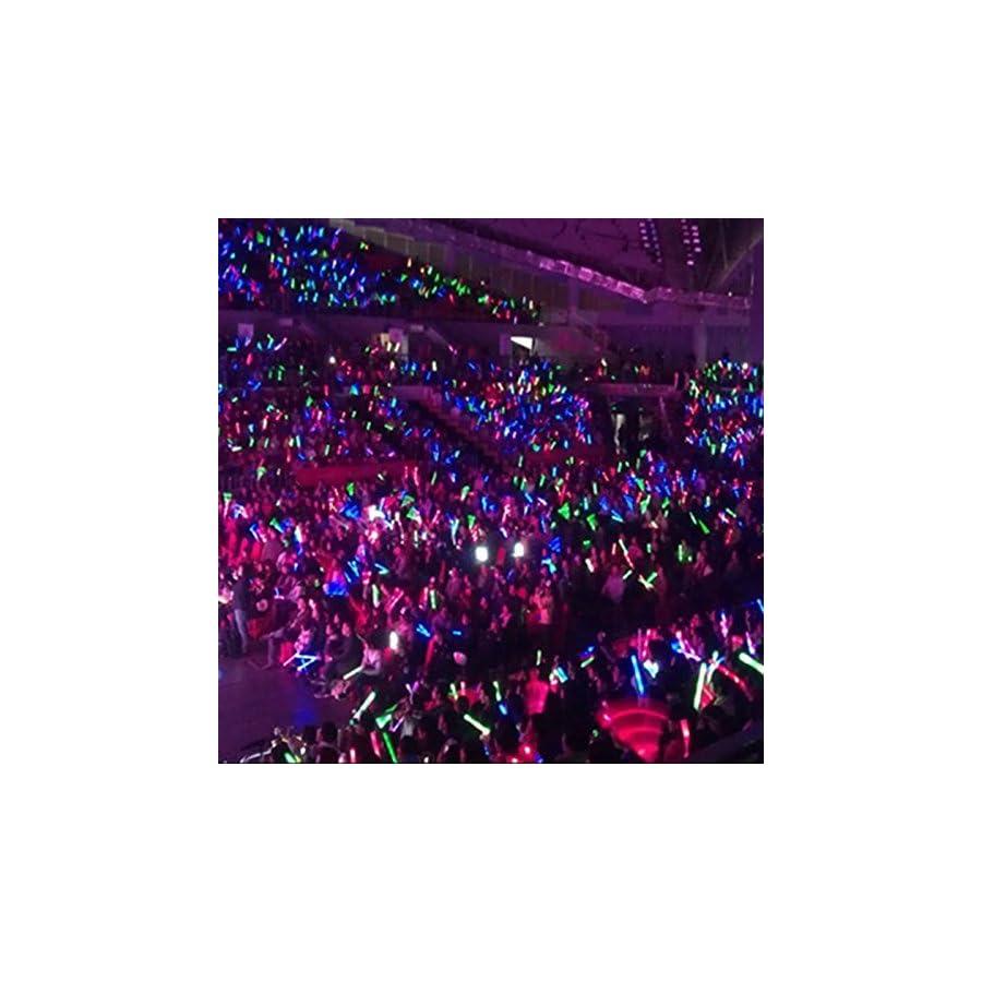 xlpace 30pcs Light Up Multi Color LED Foam Stick Wands Rally Rave Cheer Batons Party Flashing Glow Stick Light Sticks