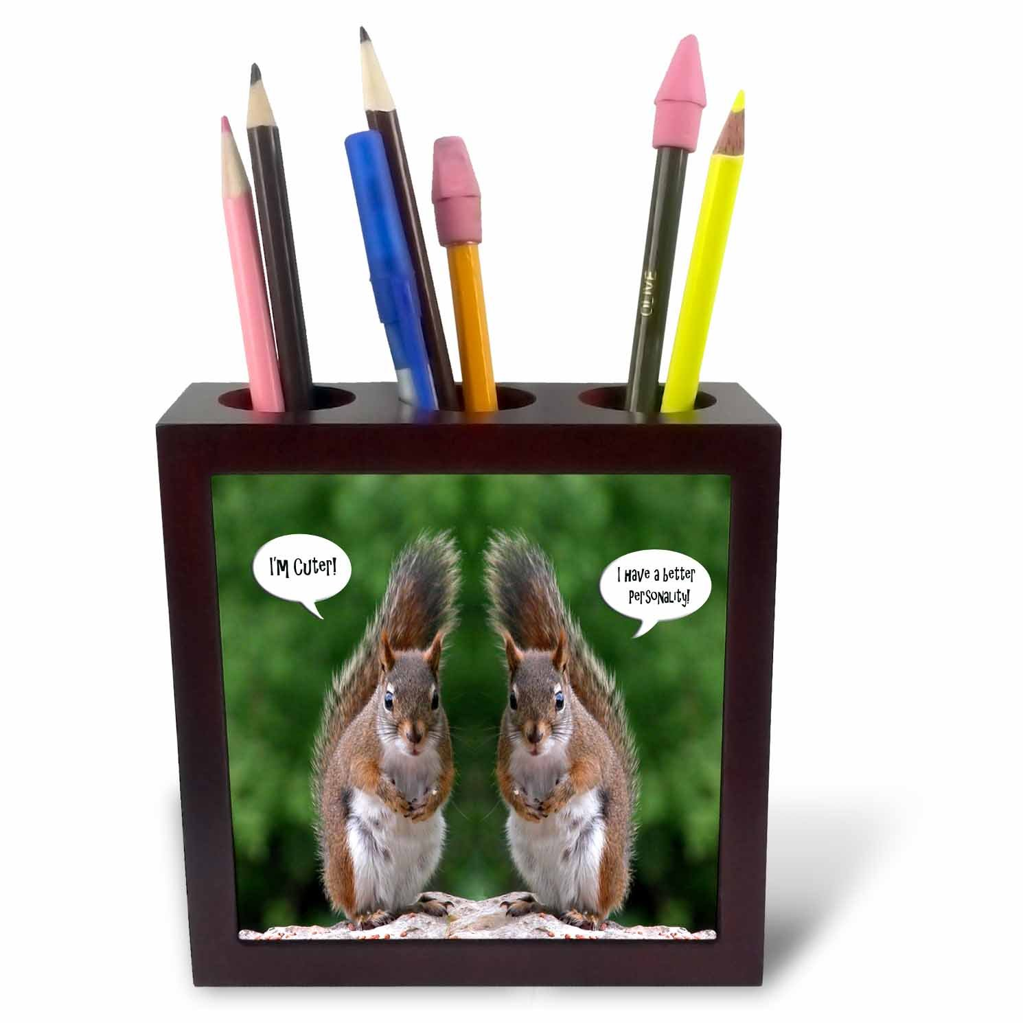 ph/_20799/_1 3dRose Red Squirrel Humor Tile Pen Holder 5 5