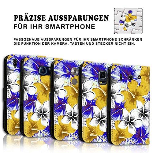 Wallet Book Style Flip Handy Tasche Case Schutz Hülle Schale Motiv Etui für Apple iPhone 6 / 6S - Design Flip MVD133