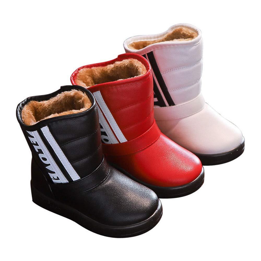 Toddler//Little Kid//Big Kid MODEOK Boy /& Girls Snow Boots Winter Outdoor Waterproof Snow Boots