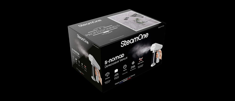 SteamOne Vapor Cabello S de Viaje Nomad, Metal, Blanco ...