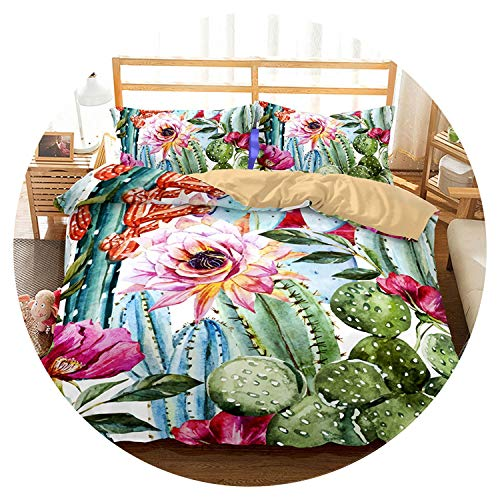 3D Bedding Set Tropical Plants Print Duvet Cover Set for sale  Delivered anywhere in USA