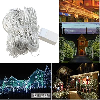 Agptek® 300 LED Net Mesh Outdoor Fairy String Lights for Wedding Christmas Xmas Thanksgiving Party Events Home Roof -RGB/ Warm White/ Cool WhiteDecor Tree-wrap