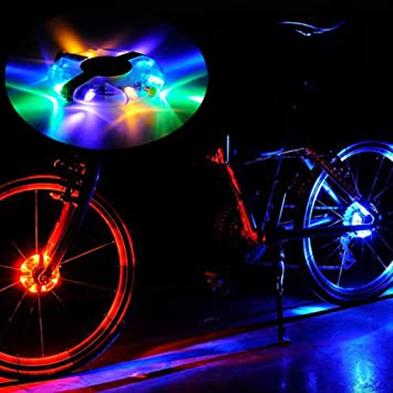 ishowstore bicicleta rueda luces LED colorido ligero luces luz ...