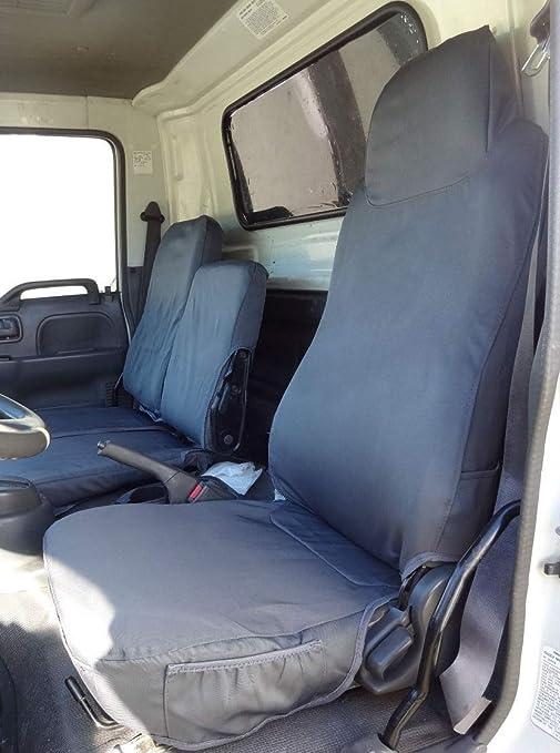 2007-2019 Isuzu NPR Exact Fit Seat Covers in Industrial Strength Waterproof Endura Gray