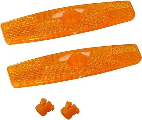 AERZETIX: Par de catadióptricos Reflectantes reflectores Naranja ...