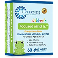 Creekside Naturals Focused Mind Jr., Focus and Memory Support for Children, Pediatrician Formulated, Stimulant Free…