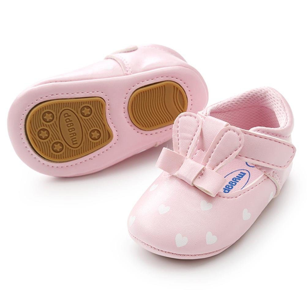 Highpot Baby Girls Princess Rabbit Ears Shoes Infant First Walkers Sneakers