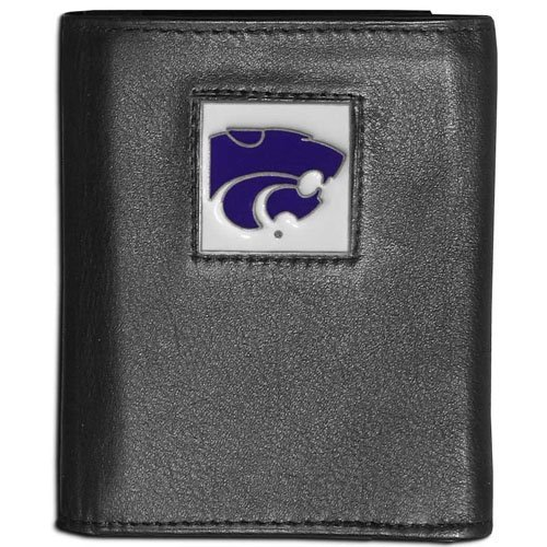 NCAA Kansas State Wildcats Leather Tri-Fold Wallet