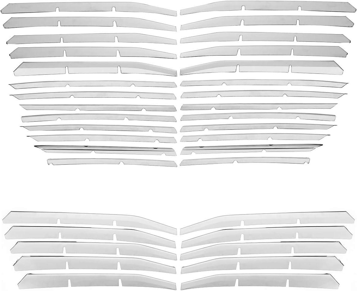 Viviance Edelstahl Front Grille Bottom Trim Cover Chrome Strip F/ür Peugeot 3008 Gt 2017-26St/ück