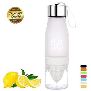 HANTAJANSS Lemon Bottle Outdoor Sport Travel Infuser Juice Fruit Pulp Water Bottles