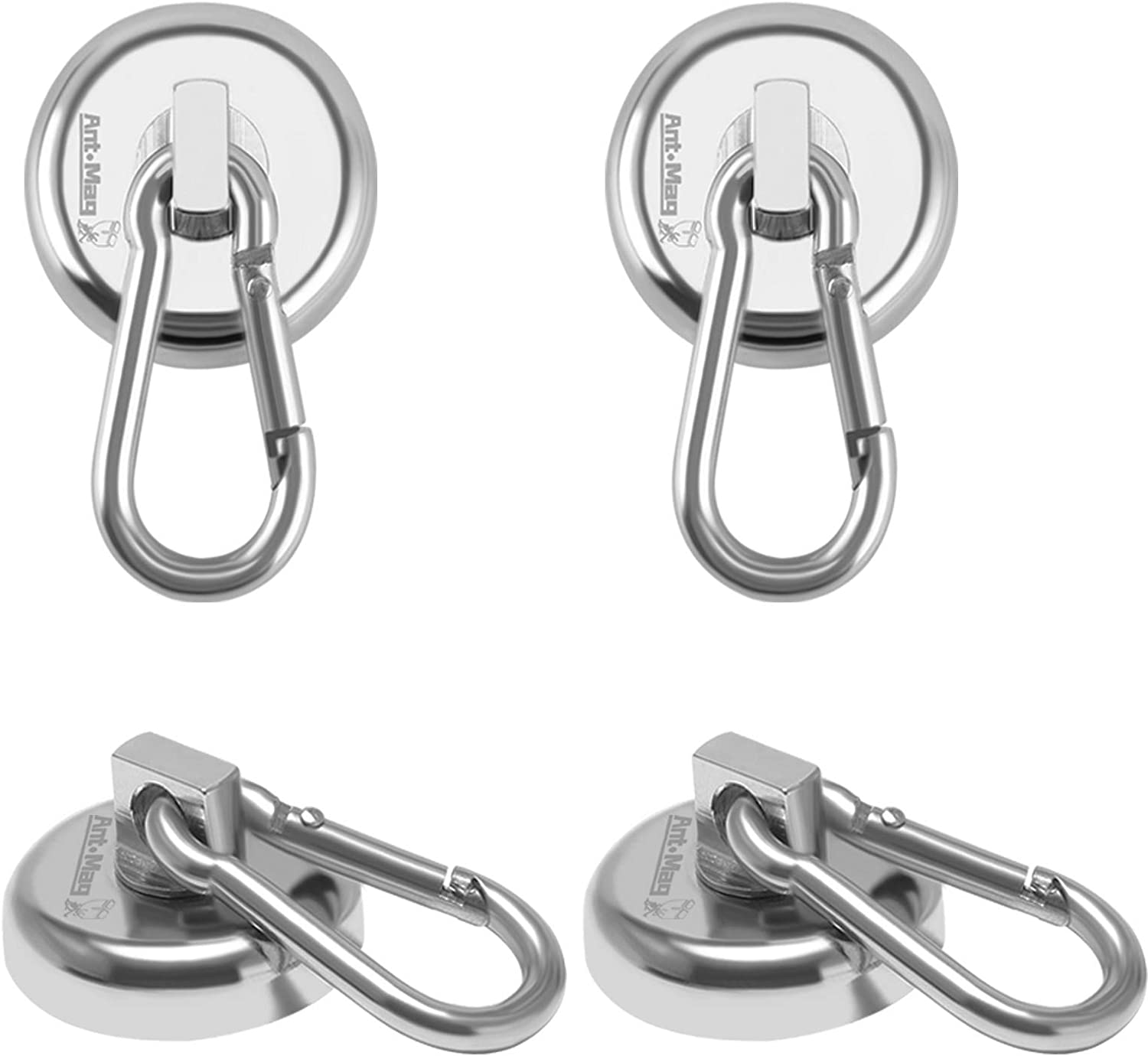 Heavy Duty Super Strong Neodymium Magnetic Hook /& Carabiner Set Scratch Proof!