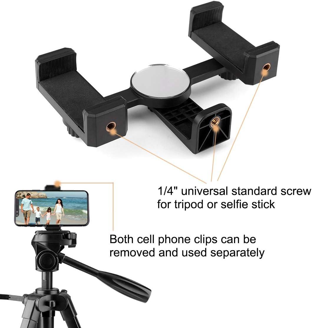rethyrel Selfie Stick Handyhalter Universal Ersatz Stativhalterung Adapter Einstellbare Klemme f/ür ausziehbaren Selfie Stick