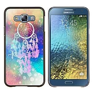 Dragon Case - FOR Samsung Galaxy E7 E7000 - All things are difficult - Caja protectora de pl??stico duro de la cubierta Dise?¡Ào Slim Fit